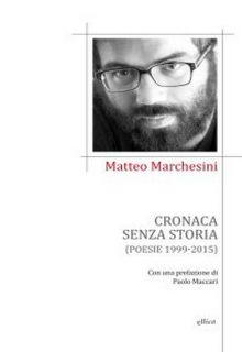Cronaca senza storia è una silloge di Matteo Marchesini pubblicata da Elliot nella collana Poesia